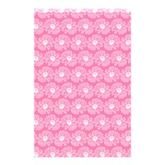 Pink Gerbera Daisy Vector Tile Pattern Shower Curtain 48  x 72  (Small)