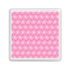 Pink Gerbera Daisy Vector Tile Pattern Memory Card Reader (Square)