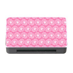 Pink Gerbera Daisy Vector Tile Pattern Memory Card Reader With Cf