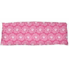 Pink Gerbera Daisy Vector Tile Pattern Body Pillow Cases (Dakimakura)