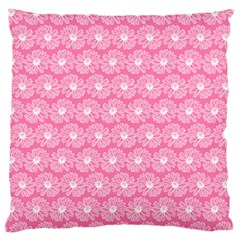 Pink Gerbera Daisy Vector Tile Pattern Large Flano Cushion Cases (two Sides)