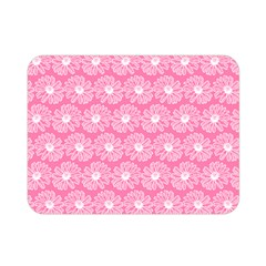 Pink Gerbera Daisy Vector Tile Pattern Double Sided Flano Blanket (mini)