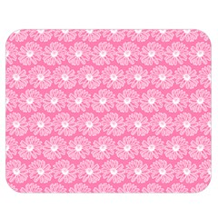 Pink Gerbera Daisy Vector Tile Pattern Double Sided Flano Blanket (Medium)