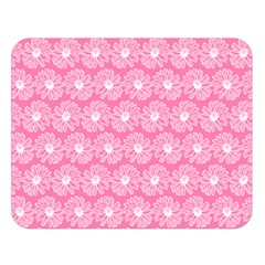 Pink Gerbera Daisy Vector Tile Pattern Double Sided Flano Blanket (Large)