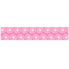 Pink Gerbera Daisy Vector Tile Pattern Flano Scarf (Large)