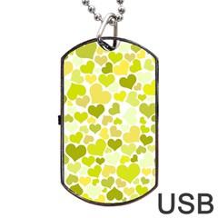 Heart 2014 0906 Dog Tag USB Flash (One Side)