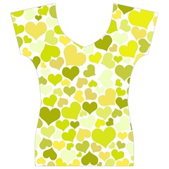 Heart 2014 0906 Women s V-Neck Cap Sleeve Top