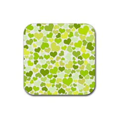 Heart 2014 0907 Rubber Square Coaster (4 Pack)