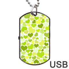 Heart 2014 0907 Dog Tag USB Flash (Two Sides)