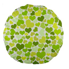 Heart 2014 0907 Large 18  Premium Round Cushions