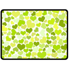 Heart 2014 0907 Double Sided Fleece Blanket (large)