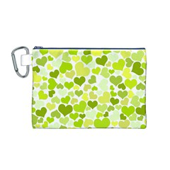 Heart 2014 0907 Canvas Cosmetic Bag (M)
