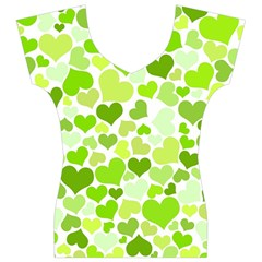 Heart 2014 0908 Women s V-Neck Cap Sleeve Top