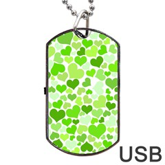 Heart 2014 0909 Dog Tag USB Flash (One Side)