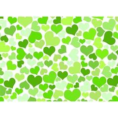 Heart 2014 0909 Birthday Cake 3d Greeting Card (7x5)