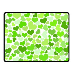 Heart 2014 0909 Double Sided Fleece Blanket (small)