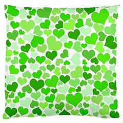 Heart 2014 0910 Large Flano Cushion Cases (one Side)