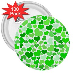 Heart 2014 0911 3  Buttons (100 Pack)