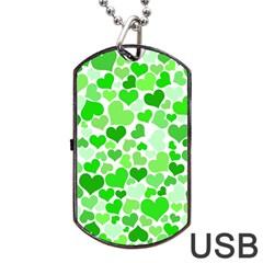 Heart 2014 0911 Dog Tag USB Flash (One Side)