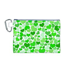 Heart 2014 0911 Canvas Cosmetic Bag (m)