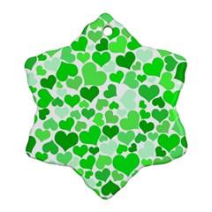 Heart 2014 0912 Snowflake Ornament (2 Side)