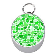 Heart 2014 0912 Mini Silver Compasses