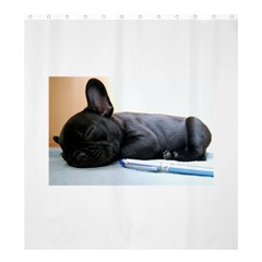 French Bulldog Puppy Shower Curtain 66  x 72  (Large)