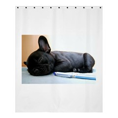 French Bulldog Puppy Shower Curtain 60  x 72  (Medium)