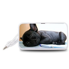 French Bulldog Puppy Portable Speaker (White)