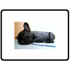 French Bulldog Puppy Double Sided Fleece Blanket (Large)