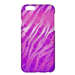 Florescent Pink Zebra Pattern  Apple Iphone 6/6s Plus Hardshell Case