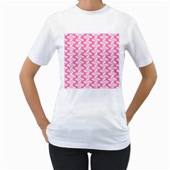 Cute Candy Illustration Pattern For Kids And Kids At Heart Women s T Shirt (white) (two Sided)
