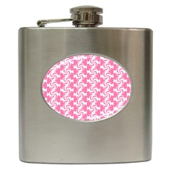 Cute Candy Illustration Pattern For Kids And Kids At Heart Hip Flask (6 Oz)