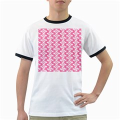 Cute Candy Illustration Pattern For Kids And Kids At Heart Ringer T-Shirts