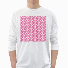 Cute Candy Illustration Pattern For Kids And Kids At Heart White Long Sleeve T Shirts