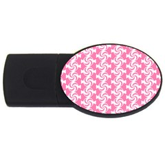 Cute Candy Illustration Pattern For Kids And Kids At Heart Usb Flash Drive Oval (4 Gb)
