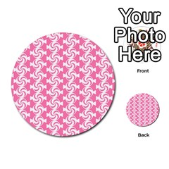 Cute Candy Illustration Pattern For Kids And Kids At Heart Multi Purpose Cards (round)