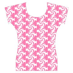 Cute Candy Illustration Pattern For Kids And Kids At Heart Women s Cap Sleeve Top