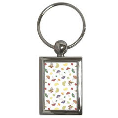 Mushrooms Pattern Key Chains (rectangle)