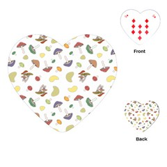 Mushrooms Pattern Playing Cards (Heart)