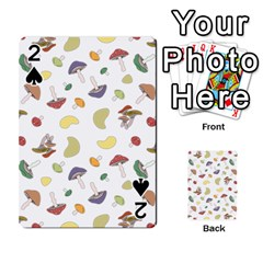 Mushrooms Pattern Playing Cards 54 Designs