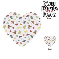 Mushrooms Pattern Multi-purpose Cards (Heart)