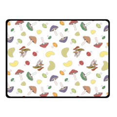 Mushrooms Pattern Fleece Blanket (small)