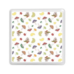 Mushrooms Pattern Memory Card Reader (square)
