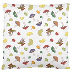 Mushrooms Pattern Large Flano Cushion Cases (one Side)