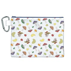 Mushrooms Pattern Canvas Cosmetic Bag (XL)