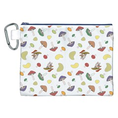 Mushrooms Pattern Canvas Cosmetic Bag (xxl)