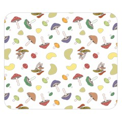 Mushrooms Pattern Double Sided Flano Blanket (Small)