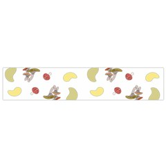 Mushrooms Pattern Flano Scarf (Small)