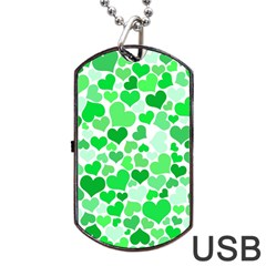 Heart 2014 0913 Dog Tag USB Flash (One Side)